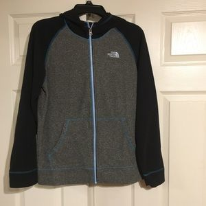 North Face fleece zipper sweatshirt. Boys xl